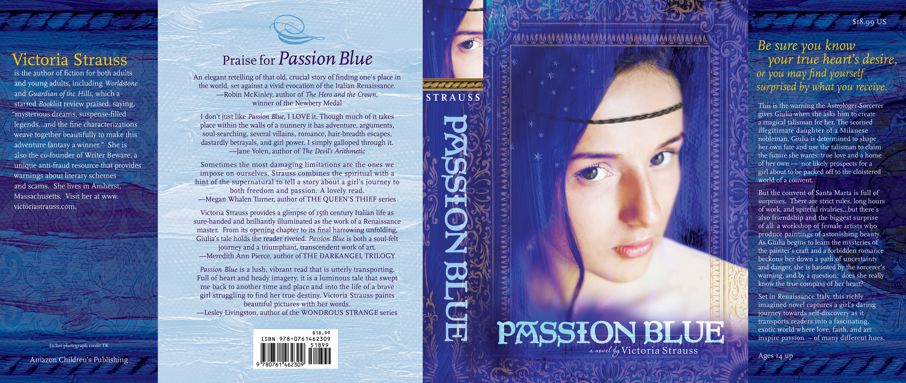 Passion Blue Cover Spread